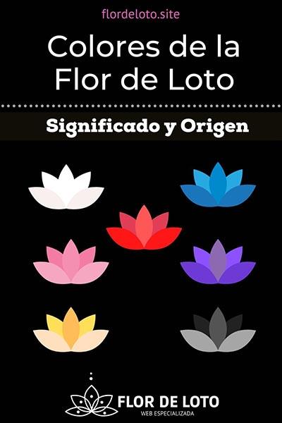 Diferentes colores de flores de loto y su significado